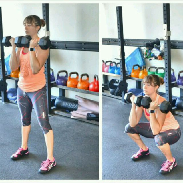 How to do: Front Squat Dumbbells - Step 1