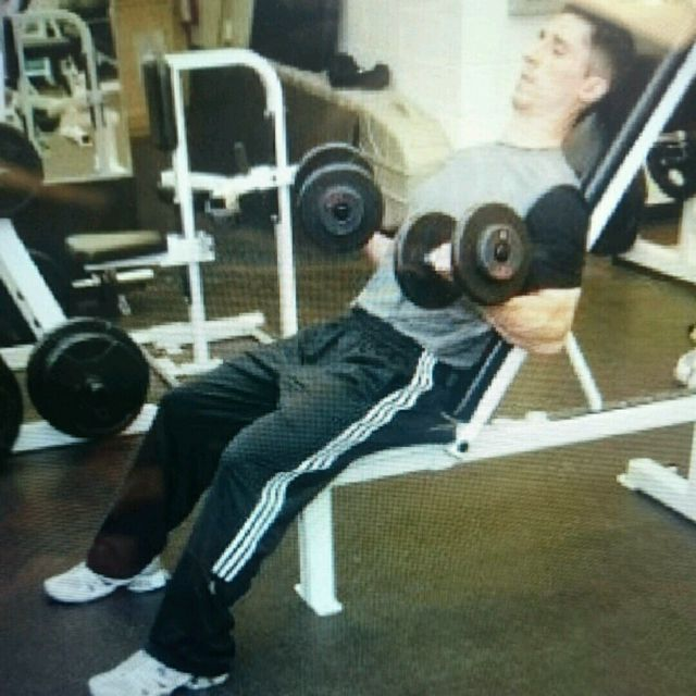 How to do: Incline DB curls - Step 2