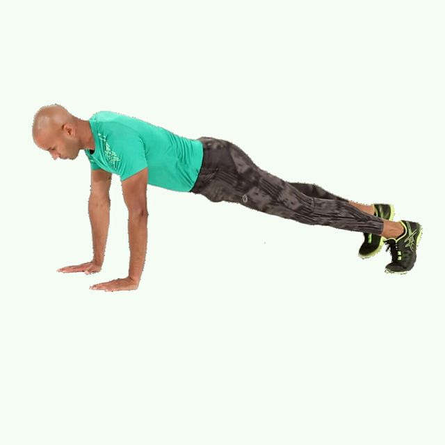 How to do: IT Push Up Leg Raise - Step 1