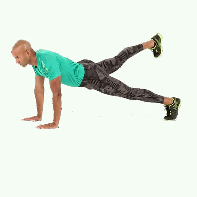 How to do: IT Push Up Leg Raise - Step 8