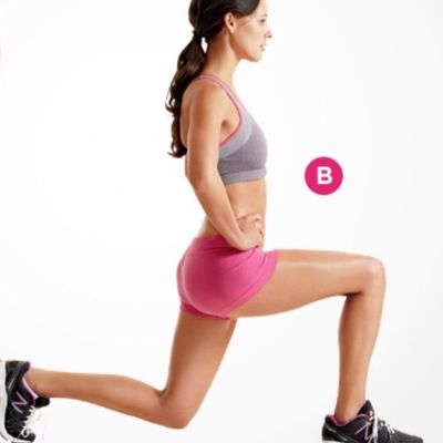 seated quad stretch  exercise howto  workout trainer
