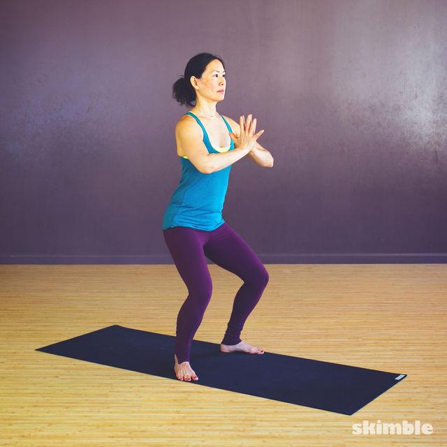 How to do: Garland Pose - Step 2