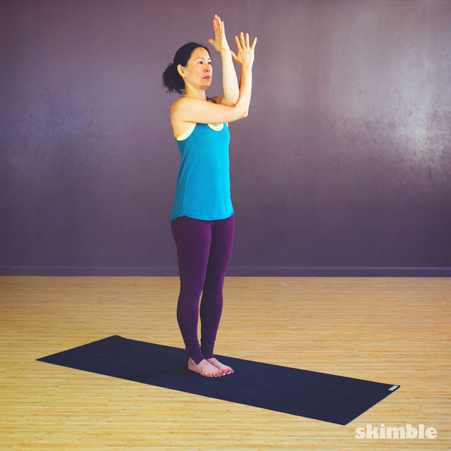 How to do: Twisted Arm & Shoulder Stretches - Step 1