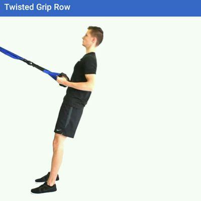 Twisted Grip Row TRX