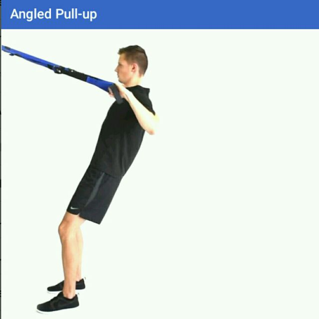How to do: Angled Pull Up TRX - Step 1