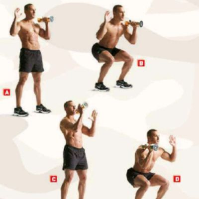 Dumbbell Hot Potato Squat