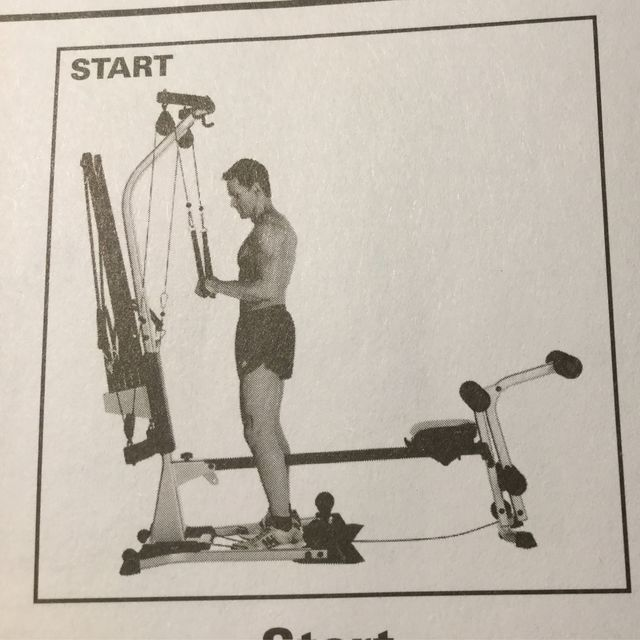 How to do: Bowflex - Standing Tricep Extension - Step 1