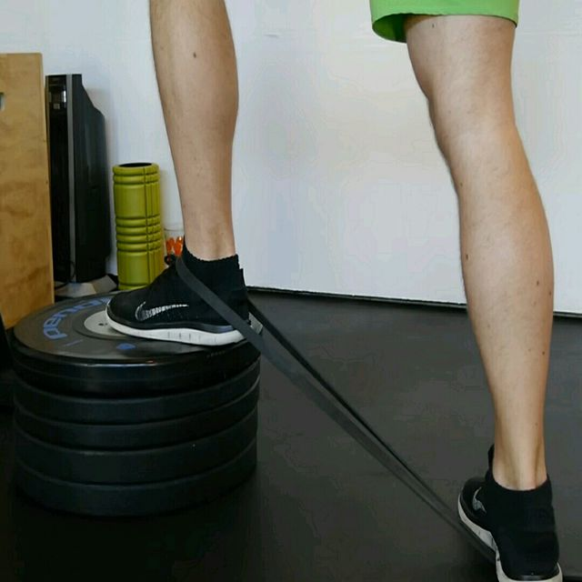 How to do: Ankle - Band and Elevation - Step 1