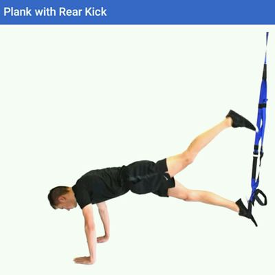 Plank With Rear Kick