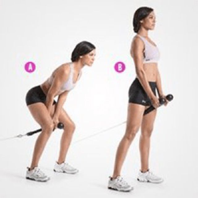 Cable Pullthrough Exercise How To Workout Trainer By