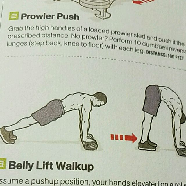 How to do: Belly Lift Walkup - Step 1