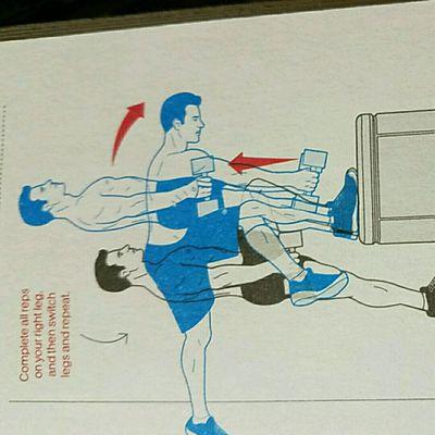 Stepup With Straight Leg Deadlift