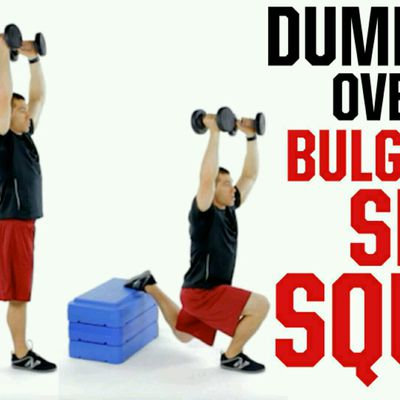 Dumbell Overhead Bulgrian Split Squat