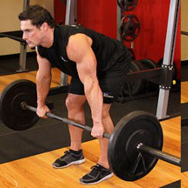 How to do: Barbell Rear Delt Row - Step 1