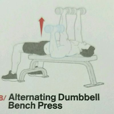 Alt. Dumbell Bench Press