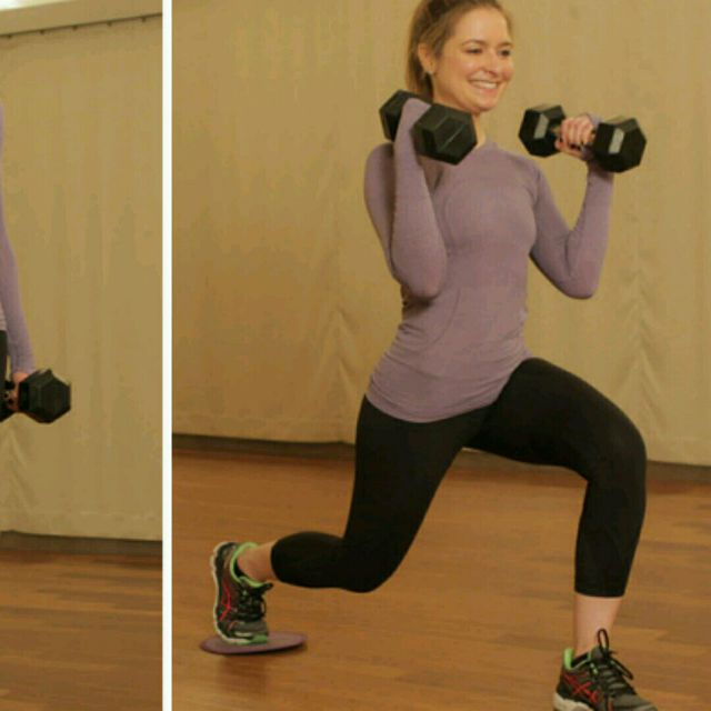 How to do: Left Biceps Combo Lunges - Step 2
