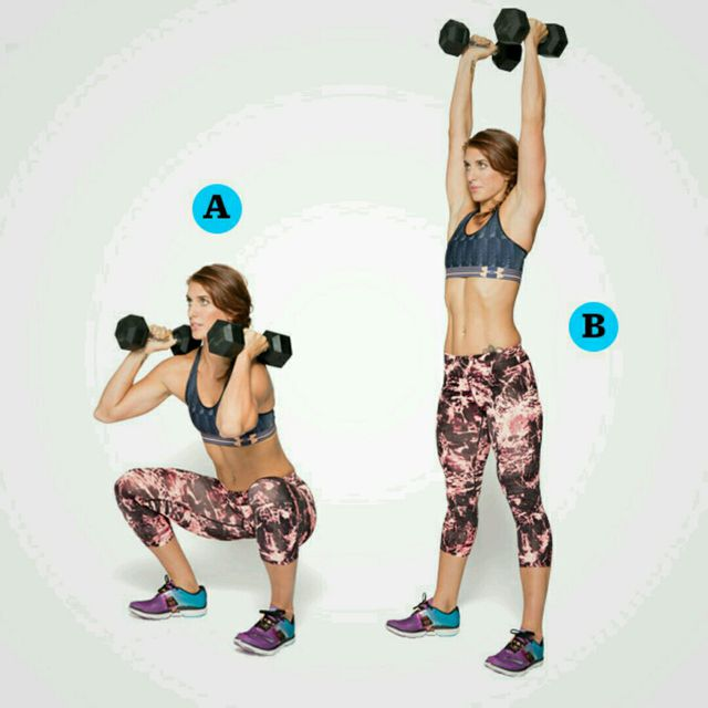 How to do: Dumbbell Thruster - Step 1