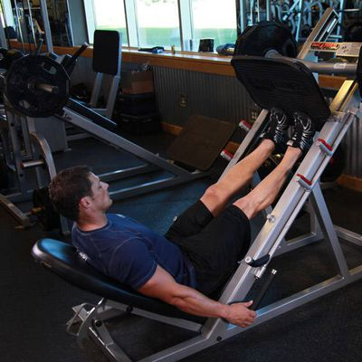 Calf Press On Leg Press Machine
