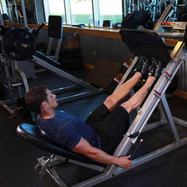 Calf Press On Leg Press Machine Exercise How To Workout Trainer By Skimble