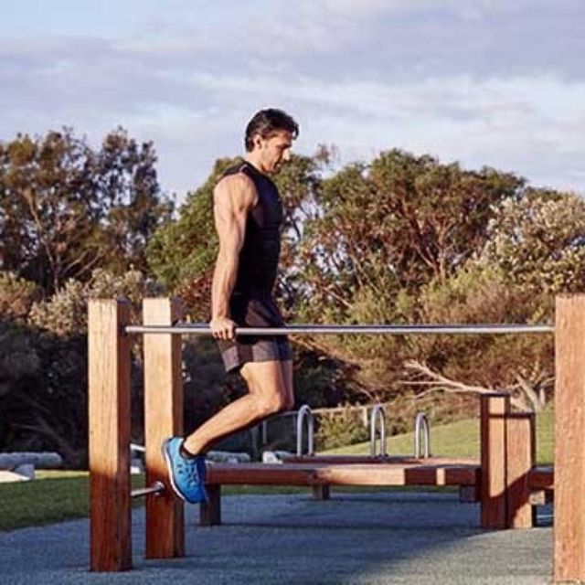 How to do: Bar Jumping Dips - Step 1