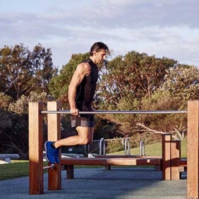 How to do: Bar Jumping Dips - Step 2