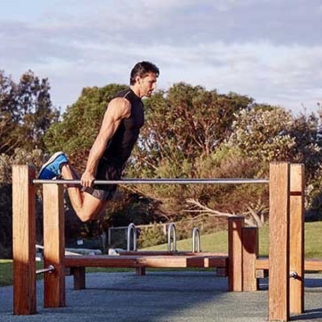 How to do: Bar Jumping Dips - Step 4