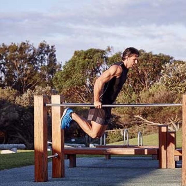 How to do: Bar Jumping Dips - Step 6