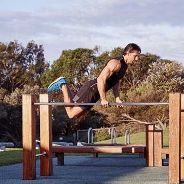 How to do: Bar Jumping Dips - Step 7