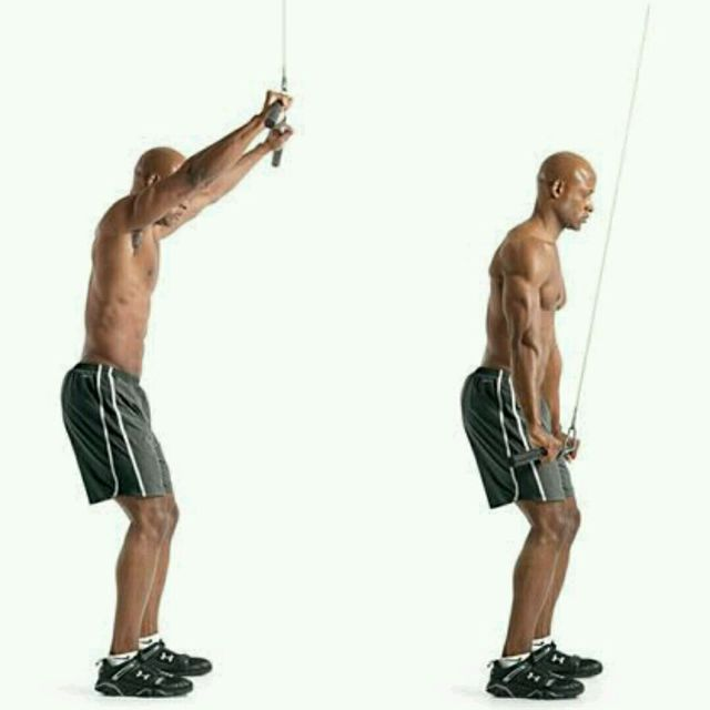 How to do: Straight Arm Cable Pull downs - Step 1