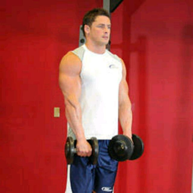 How to do: Standing Dumbbell Reverse Curl - Step 1