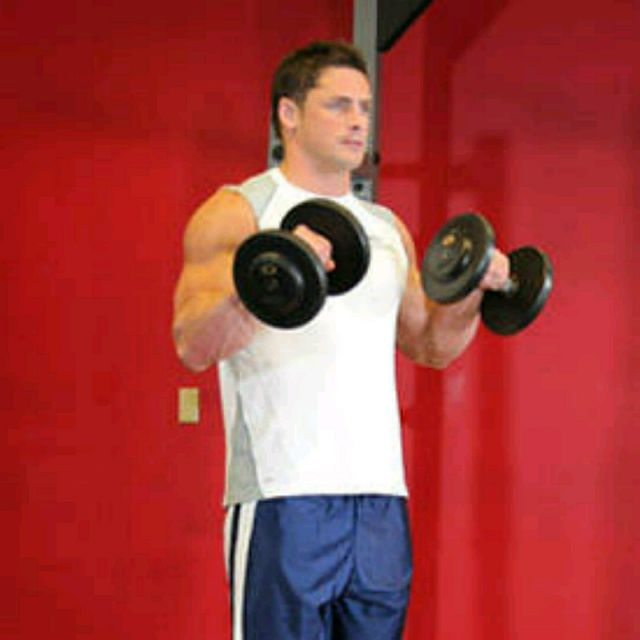 How to do: Standing Dumbbell Reverse Curl - Step 2
