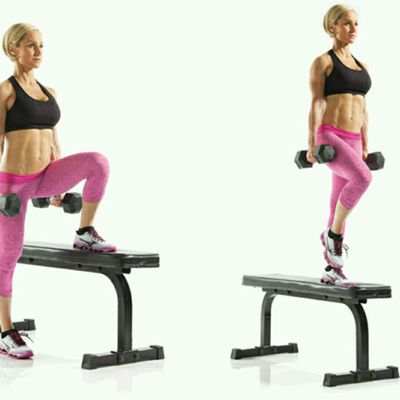 Dumbbell Lateral Step Up