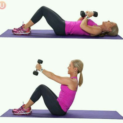 Sit Up With Weights