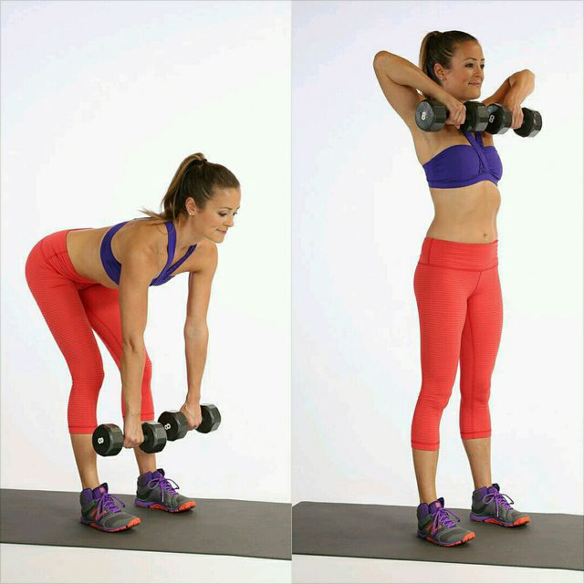 Upright row exercise