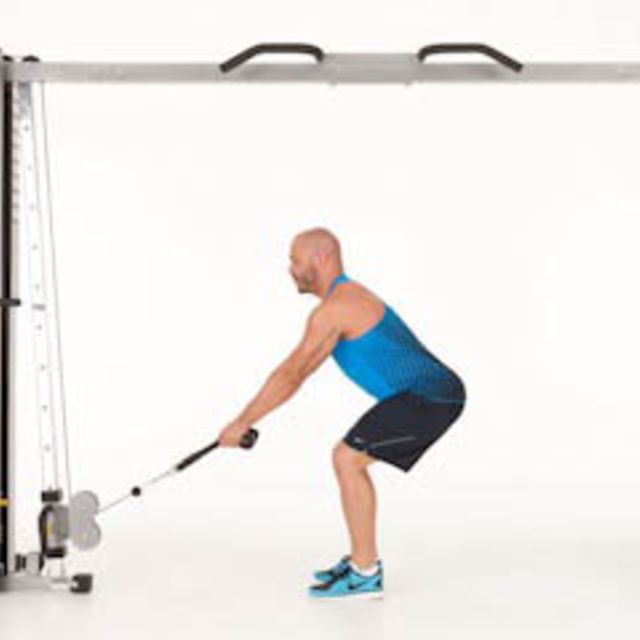 How to do: Bent Over Rope Row - Step 1