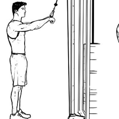 Rope Face Pull To Lateral Straight Arm Pull-down