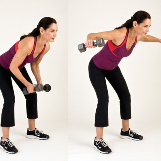 How to do: Bent Over Row To Fly - Step 2