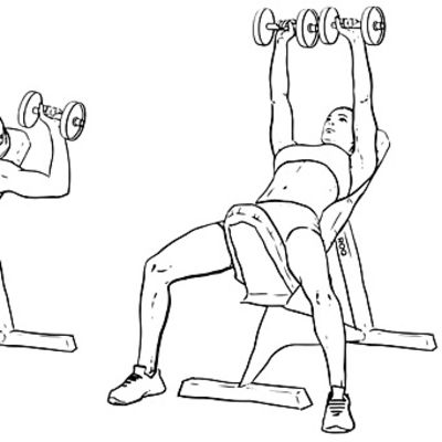 Incline Bench Dumbell Chest Press