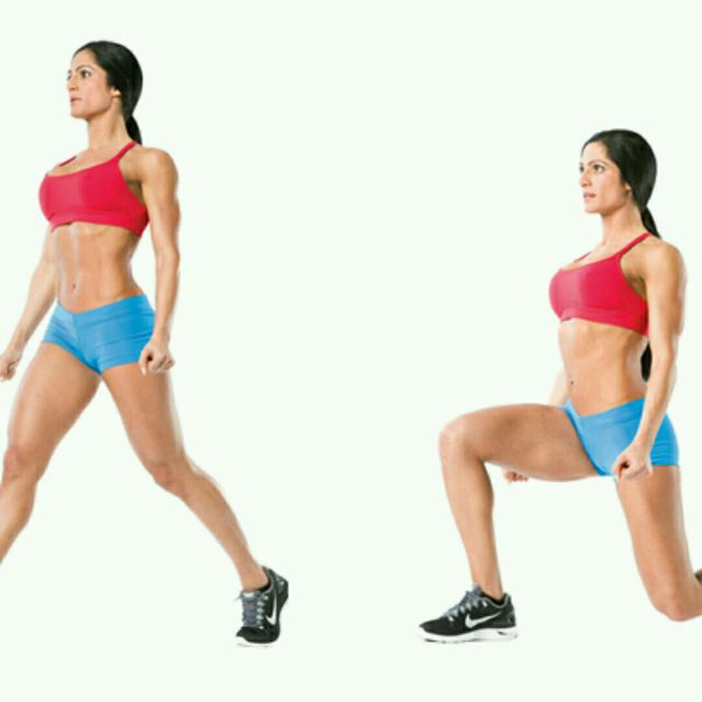 How to do: Lunges Right - Step 1