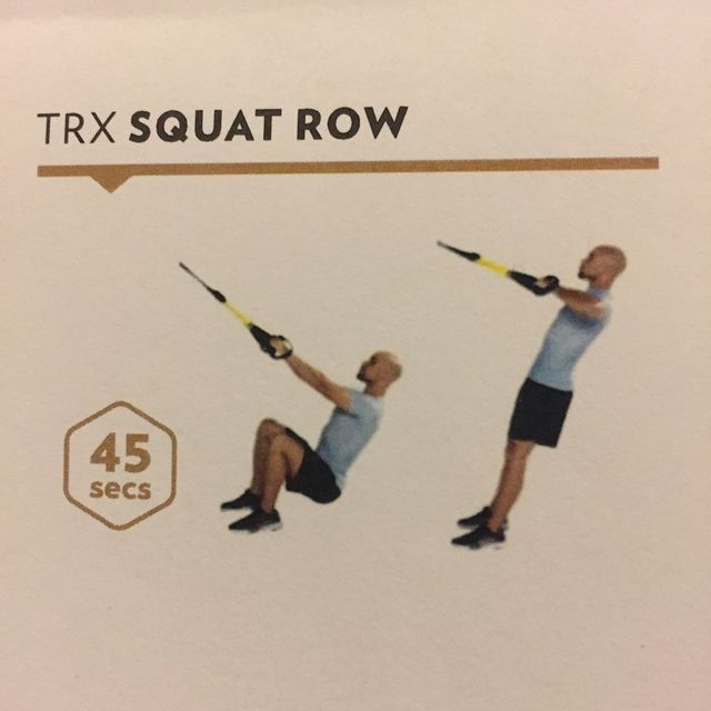 How to do: Trx Squat Row - Step 1