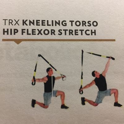 TRX Kneeling Torso Hip Flexor Stretch