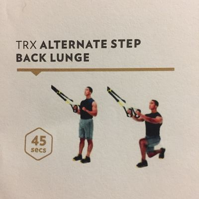 TRX Alternate Step Back Lunge