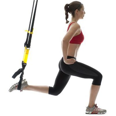 TRX Single Leg Lunges Left Side