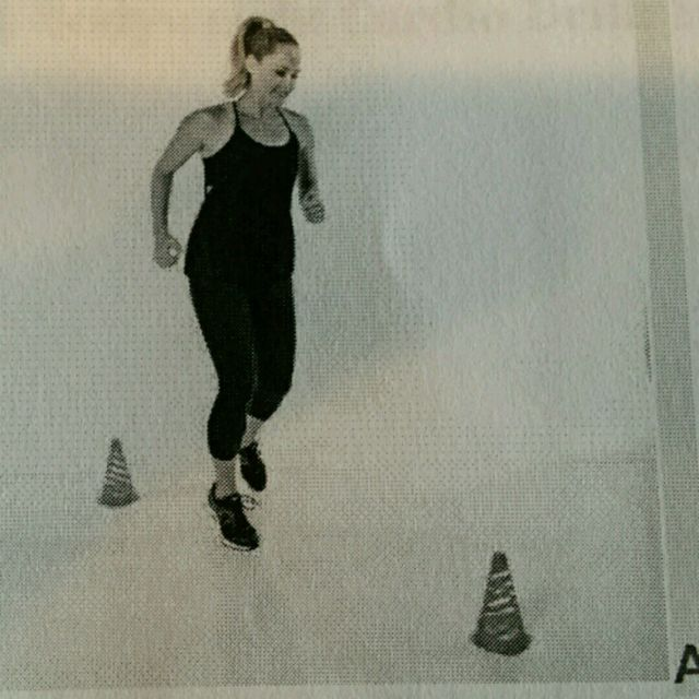 How to do: Figure Eight Jog - Step 1