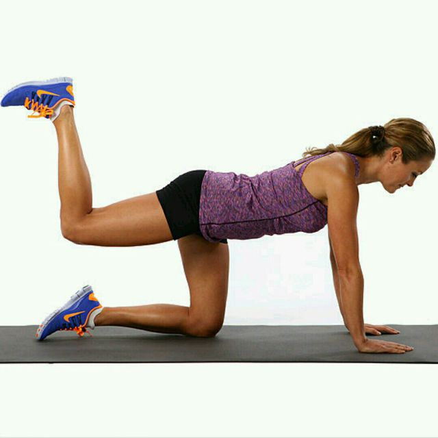 How to do: Bent-Knee Donkey Kicks - Step 1