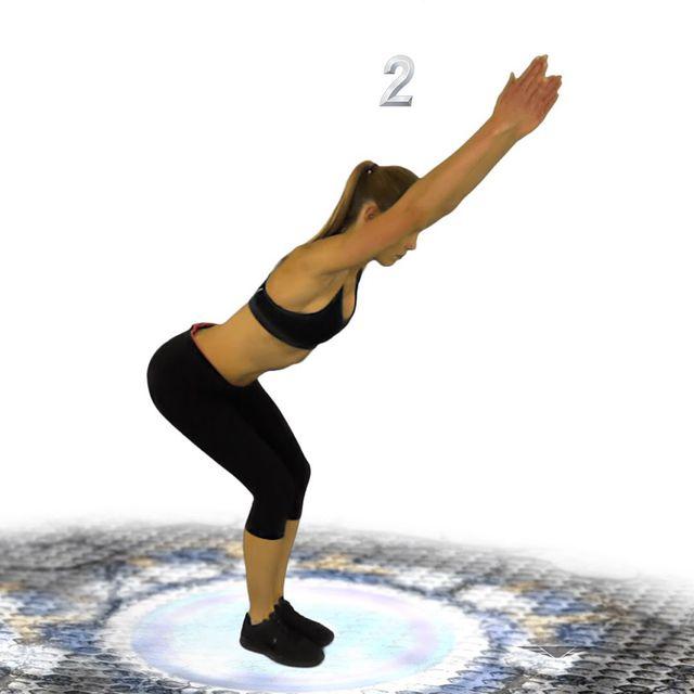 How to do: Bent Over V Raise - Step 2