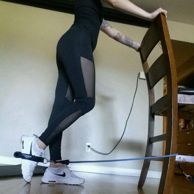 How to do: Banded Leg Kickback - Step 1