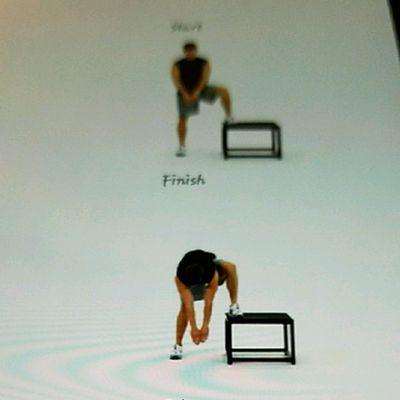 Standing Bench Inner Thigh Stretch