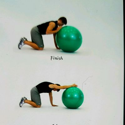 Kneeling Lat Stretch With Ball