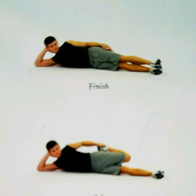 side lying hip exercise